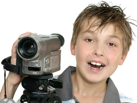 Image: Boy with video camera