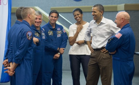 Image: Obamas and astronauts