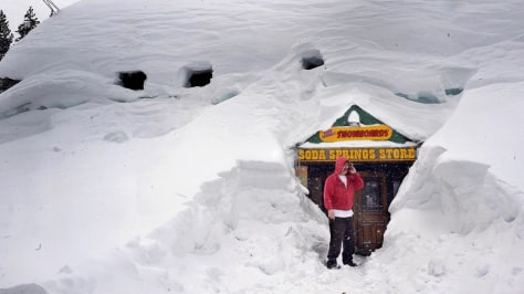 Image: Snow covered store in California