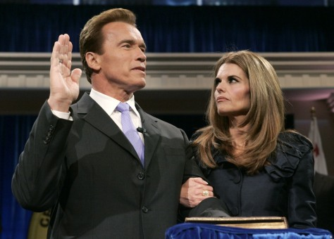 Image: File photo of California Governor Arnold Schwarzenegger taking oath of office in Sacramento
