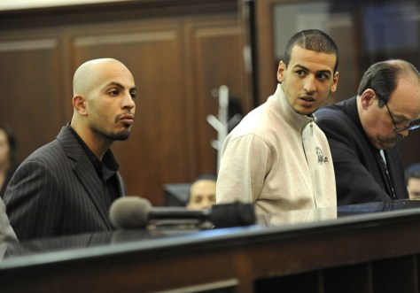 Image: Ahmed Ferhani 26, left, and Mohamed Mamadouh 20, right