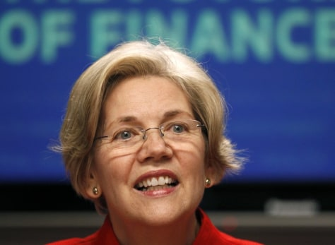 Image: Elizabeth Warren at the Reuters finance summit in Washington