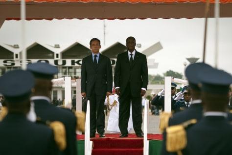 Image: Nicolas Sarkozy, Alassane Ouattara