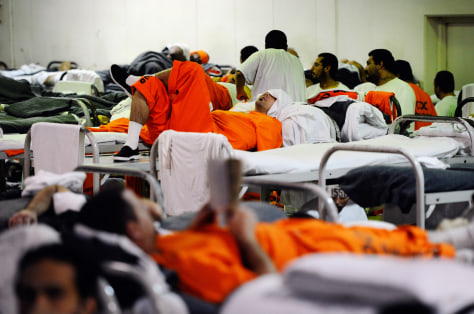 Image: Inmates at Chino State Prison