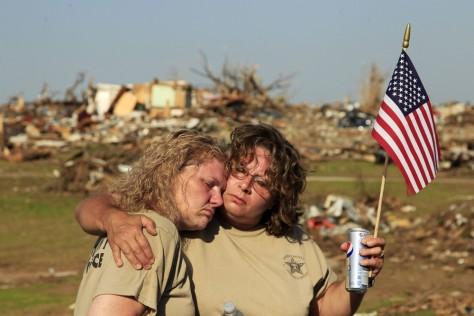 Image: Joplin residents Paula Barnett and Susan Dodson
