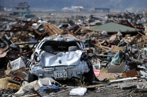 Image: A mashed Toyota car