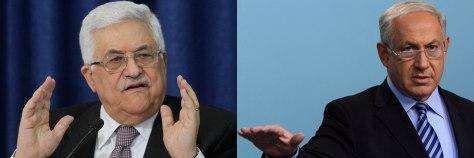 Image: Palestinian President Mahmoud Abbas; Israel's Prime Minister Benjamin Netanyahu