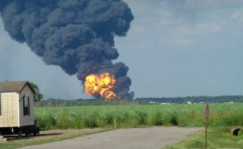 Image: chemical plant explosion