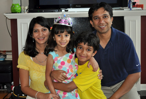 Image: Dr. Ruchi S. Gupta and her family