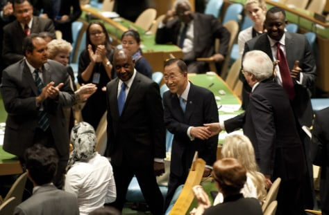 Image: United Nations Secretary General Ban Ki-moon at the General Assembly