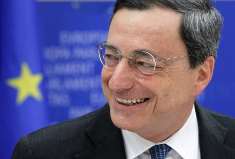 Image: File photo of Bank of Italy Governor Draghi attending the EU Parliament economic and monetary affairs committee in Brussels