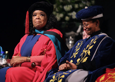 Image: Oprah Winfrey receives her honorary doctorate