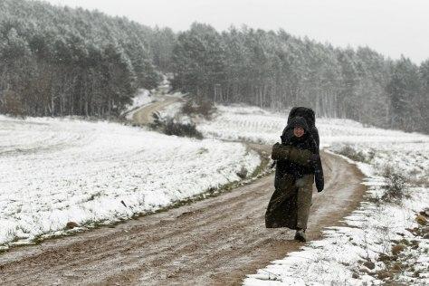 Image: A religious pilgrim in Spain