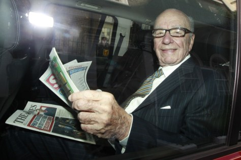 Image: News Corporation's CEO Rupert Murdoch