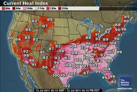 Image: Heat index map