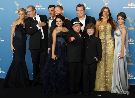 "Image: The cast of ""Modern Family"""