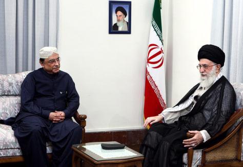 Image: Pakistani President Asif Ali Zardari visits Iranian Supreme leader Ayatollah Ali Khamenei