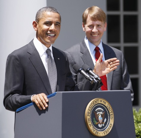 Image: Barack Obama, Richard Cordray