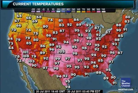 Heatless In Seattle And Rest Of Northwest Weather NBC News - Us current temperature map