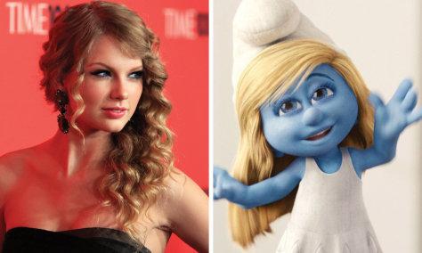 Image: Taylor Swift, Smurfette