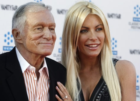 Image: Crystal Harris and her Hugh Hefner