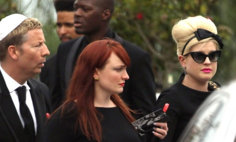 Image: Kelly Osbourne at Amy Winehouse funeral