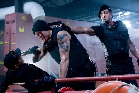 "Image: Scene from ""The Expendables"""