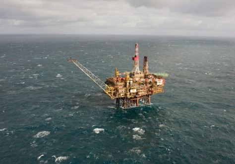Image: The Gannet Alpha platform in the North Sea