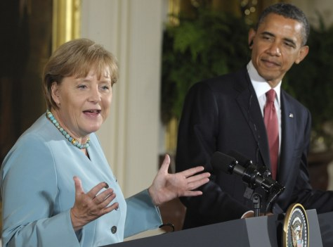 Image: Angela Merkel, Barack Obama