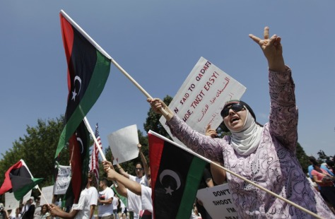 Image: Libyan protest at the White House