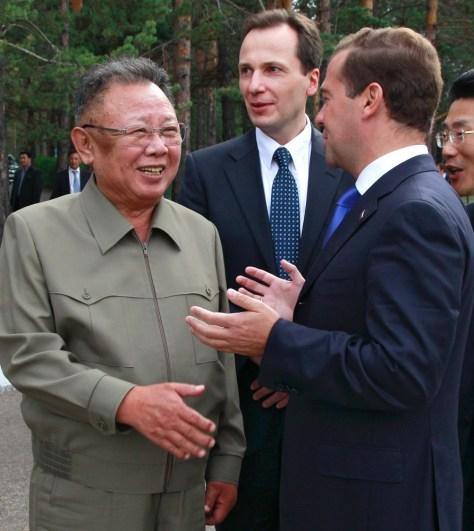 Image: Dmitry Medvedev, Kim Jong Il