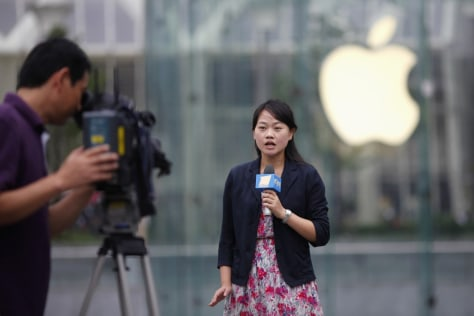 Image: TV journalist in Shanghai