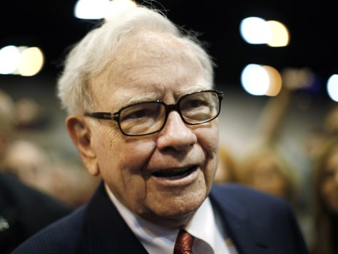 Image: Berkshire Hathaway Chairman Warren Buffett wanders the company trade show before his company's annual meeting in Omaha