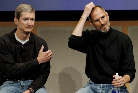 Image: Steve Jobs, Tim Cook
