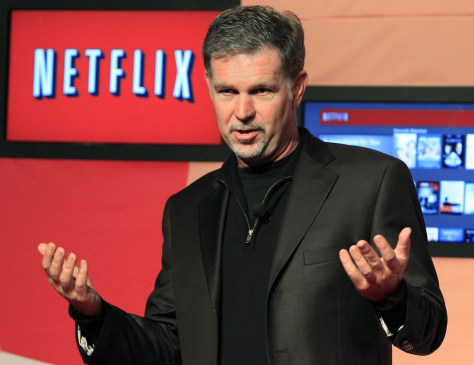 Image: Netflix CEO Hastings speaks during the launch of streaming internet subscription services for movies and television shows in Toronto