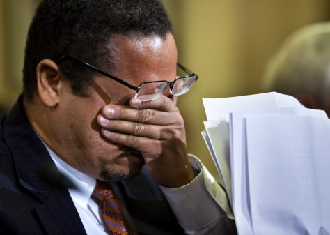 Image: Rep. Keith Ellison, tears up during contressional hearing