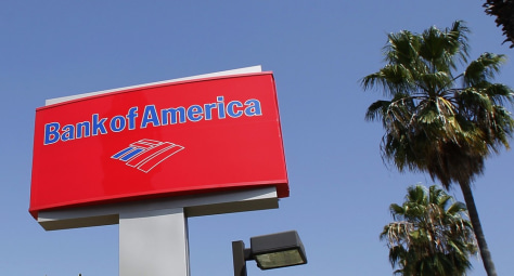 Image: A sign for a Bank of America office is pictured in Burbank, California