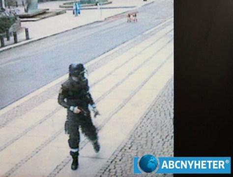 Image: Surveillance image of Anders Breivik