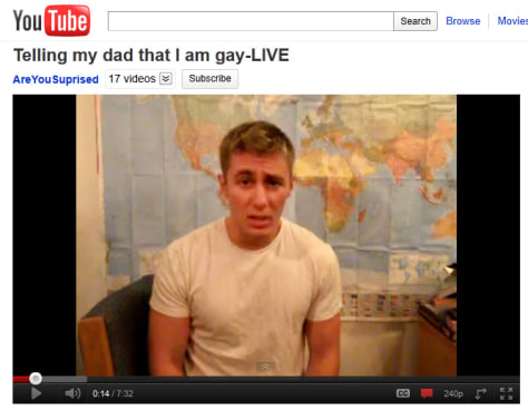 "Image: Video,"" Telling my dad that I am gay"""