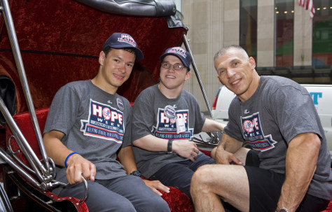 Image: Joe Girardi, right, with Andrei Sullivan, left, and John Lahutsky