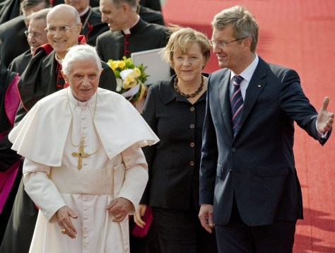 Image: Pope begins first state visit to homeland Germany