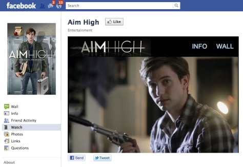 "Screen shot of ""Aim High"" series on Facebook page"