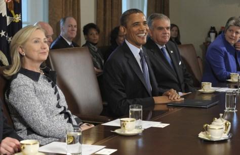 Image: Barack Obama, Ray LaHood, Hillary Rodham Clinton,,Janet Napolitano