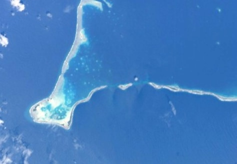 Image: Satellite view of Tuvalu