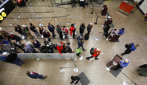 Image: Seattle airport security