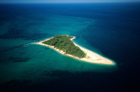 Image: Tanzania, Zanzibar Archipelago, Mafia island, to the south of Unguja island, small islet (aerial view)