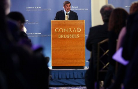 Image: U.S. Secretary of Defense Leon Panetta speaks at Carnegie Europe