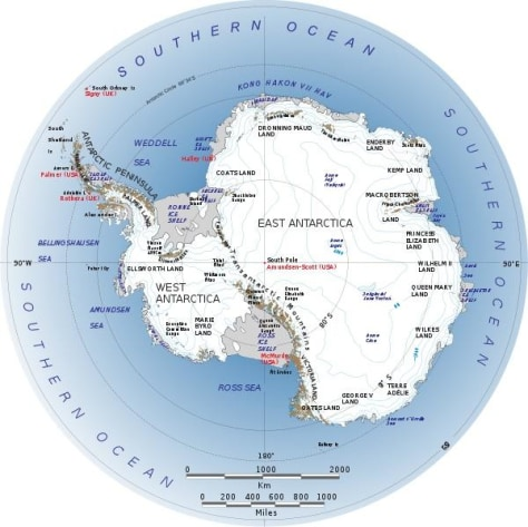 Image: Map of Antarctica