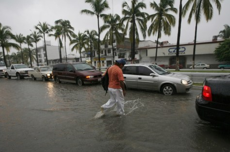 Image: Flooded street in Puerto Vallarta