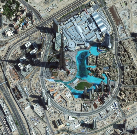 Image: Satellite Image Captures Burj Khalifa, World's Tallest Man-Made Structure